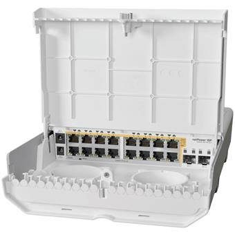 MikroTik CRS318-16P-2S+OUT - netPower 16P PoE