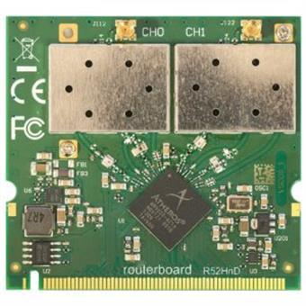 Mikrotik R52HnD MiniPCI karta s MMCX konektory