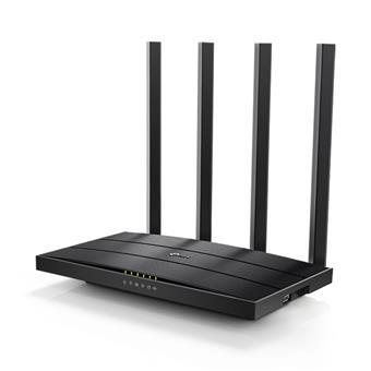TP-Link Archer C6U AC1200 WiFi DualBand Router, USB 2.0, 5xGb LAN, 4x anténa