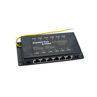 POE-PAN6-GB Gigabitový stíněný 6-portový POE panel