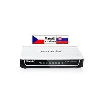 Tenda S16 - 16x 10/100 Mbps Fast Ethernet Switch, Fanless-bez ventilátorů, Desktop