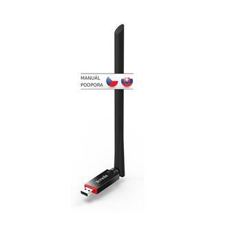 Tenda U6 WiFi N USB Adapter, 300 Mb/s, 802.11 b/g/n, 6 dBi, režimy Client, Soft AP,Win,Mac,Linux