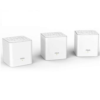 Tenda Nova MW3 (3-pack) WiFi AC1200 Mesh system Dual Band, 2x LAN/WAN, MU-MIMO, SMART aplikace