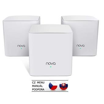 Tenda Nova MW5s (3-pack) WiFi AC1200 Mesh system Dual Band, 2x GLAN/GWAN,ostatní LAN,SMART CZ app.