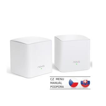 Tenda Nova MW5c (2-pack) WiFi AC1200 Mesh Gigabit system Dual Band, 4x GLAN/GWAN, SMART CZ aplikace