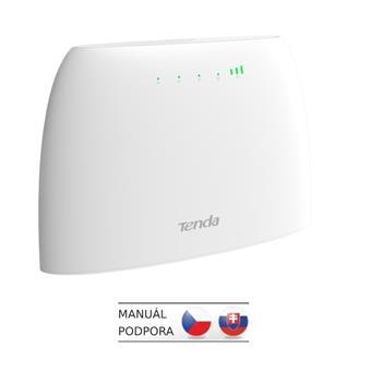 Tenda 4G03 Wi-Fi N300 4G LTE router, 2x WAN/LAN, 1x miniSIM, IPv6, VPN, LTE Cat.4, 4x anténa, CZ App