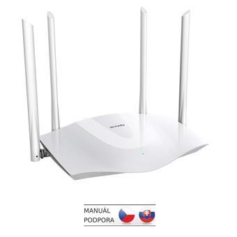 Tenda TX3 AX1800 WiFi6 Router, 1x GWAN, 3x GLAN, IPv6, 4x 6dBi, MU-MIMO, WPA3, Alexa, CZ App