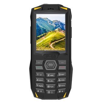 iGET Blackview GBV1000 Yellow - odolný telefon IP68, DualSIM, 3000 mAh, BT 3.0, svítilna, FM, MP3