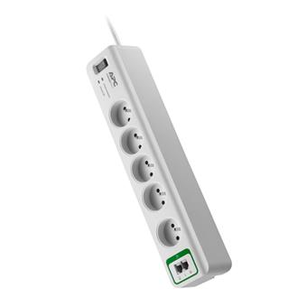 APC Essential SurgeArrest 5 outlets with phone protection 230V France