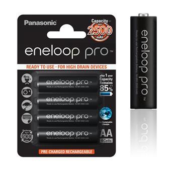 Panasonic Eneloop Pro AA NiMH 1,2V 2500mAh BL4