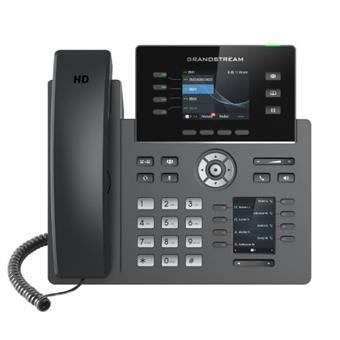 """Grandstream GRP2614, 2.8"""" TFT bar. disp., 4SIP úč., 8prog. tl., 40virt. BLF tl., BT, dual Gbit"""