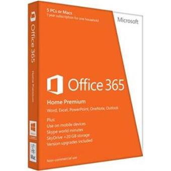 Office 365 Home Premium 32-bit/x64 CZ 1R pronájem