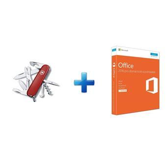 Office 2016 pro dom.a podnikatele CZ,3pk + Nůž