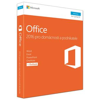 Office 2016 pro dom.a podnikatele CZ, 2pk+Sodexho