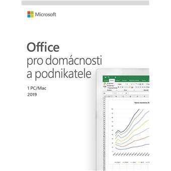 Office 2019 pro dom. a podnikatele CZ,2pk+Sodexo