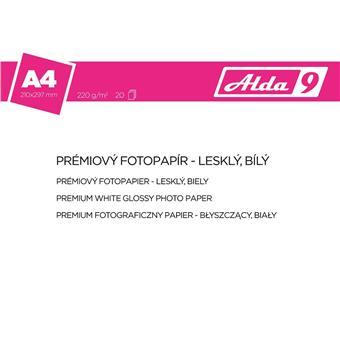ALDA9 Fotopapír A4 220 g/m2, prem. lesklý, 20listů