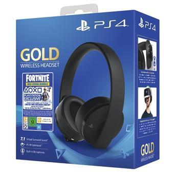 PS4 - Gold Wireless 7.1 headset + Fortnite VCH (2019) 500 V Bucks
