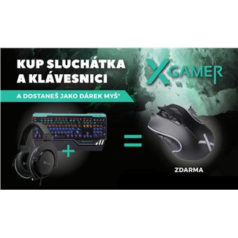 X-Gamer akční set klávesnice + sluch. + myš ML1000 zdarma