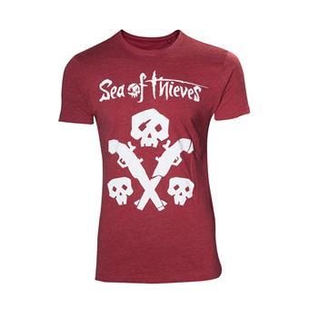Tričko:Sea of Thieves - s lebkou a zbraní - L