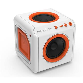Repro přenosné PowerCube AUDIOCUBE, White - Orange