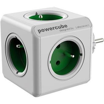 Zásuvka PowerCube ORIGINAL, Green, 5-ti rozbočka
