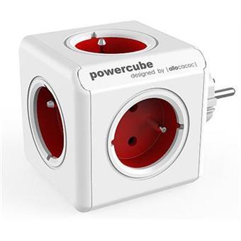 Zásuvka PowerCube ORIGINAL, Red, 5-ti rozbočka