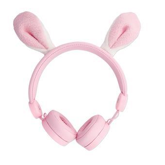 Drátová sluchátka Forever AMH-100 3,5 mm mini jack s magnetickými prvky růžová