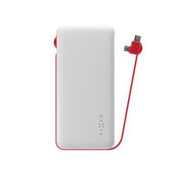 PWB FIXED Zen, microUSB/USB-C, 10 000 mAh, bílá
