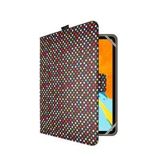 "Pouzdro pro 10,1"" tablety FIXED Novel, motiv Dots"