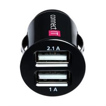 Auto adaptér 2xUSB 2.1 a 1 A - černý