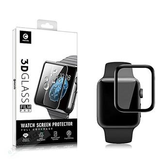 Mocolo 3D Tvrzené Sklo Black pro Apple iWatch 1,2,3,4 40mm