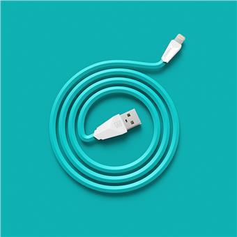 Datový kabel ALIEN, micro USB, barva bílo-modrá