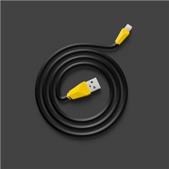 Datový kabel ALIEN, lighting , barva černo-žlutá