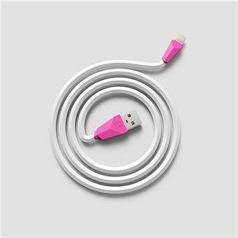 Datový kabel ALIEN, lighting , barva bílo-růžová