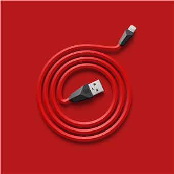 Datový kabel ALIEN, lighting, barva červeno-černá