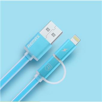 Datový kabel AURORA ,Micro USB / lightning, modrý