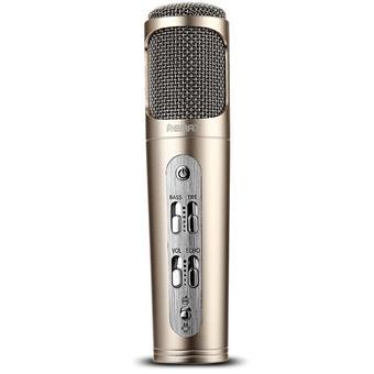 Remax RM-K02, mikrofon, zlatý