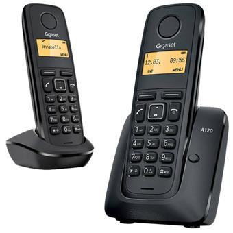 Gigaset DECT A120 Black Duo