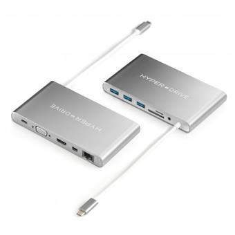 HyperDrive™ Ultimate USB-C Hub - Stříbrný