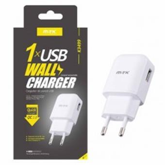 Aligator Nabíječka Quick Charge 2.0 PLUS K3499 s USB výstupem, 2.1A - bílá