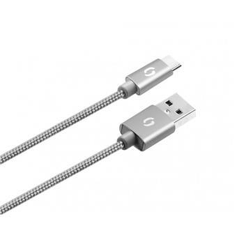 ALIGATOR PREMIUM Datový kabel 2A, USB-C šedý
