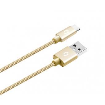 ALIGATOR PREMIUM Datový kabel 2A, USB-C zlatý