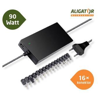 Aligator Univerzální adaptér k notebooku 90W+16 konektorů