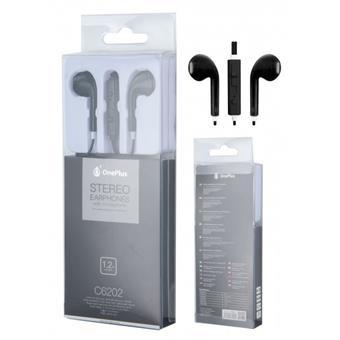 Sluchátka PLUS C6202 s mikrofonem, černá