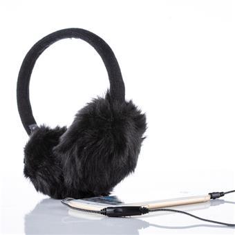 Sluchátka zimní černá