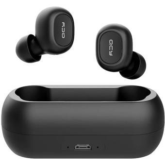 QCY T1C - bezdrátová BT sluchátka černá