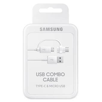 Samsung Kabel micro USB - USB typ C White