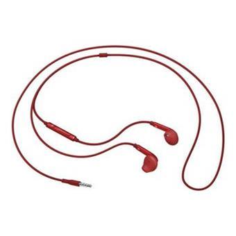 Samsung sluchátková sada stereo s ovládáním EO-EG920B, konektor 3,5 mm, červená