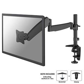 """NewStar Flat stolní držák na PC monitor 10-32"""", 8kg, VESA 75x75 nebo 100x100 mm, černý"""