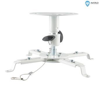 4W Stropní držák projektorů otočný sklopný 8kg WHT